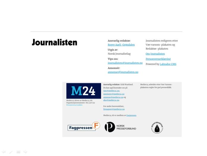 Om journalisten og medier24